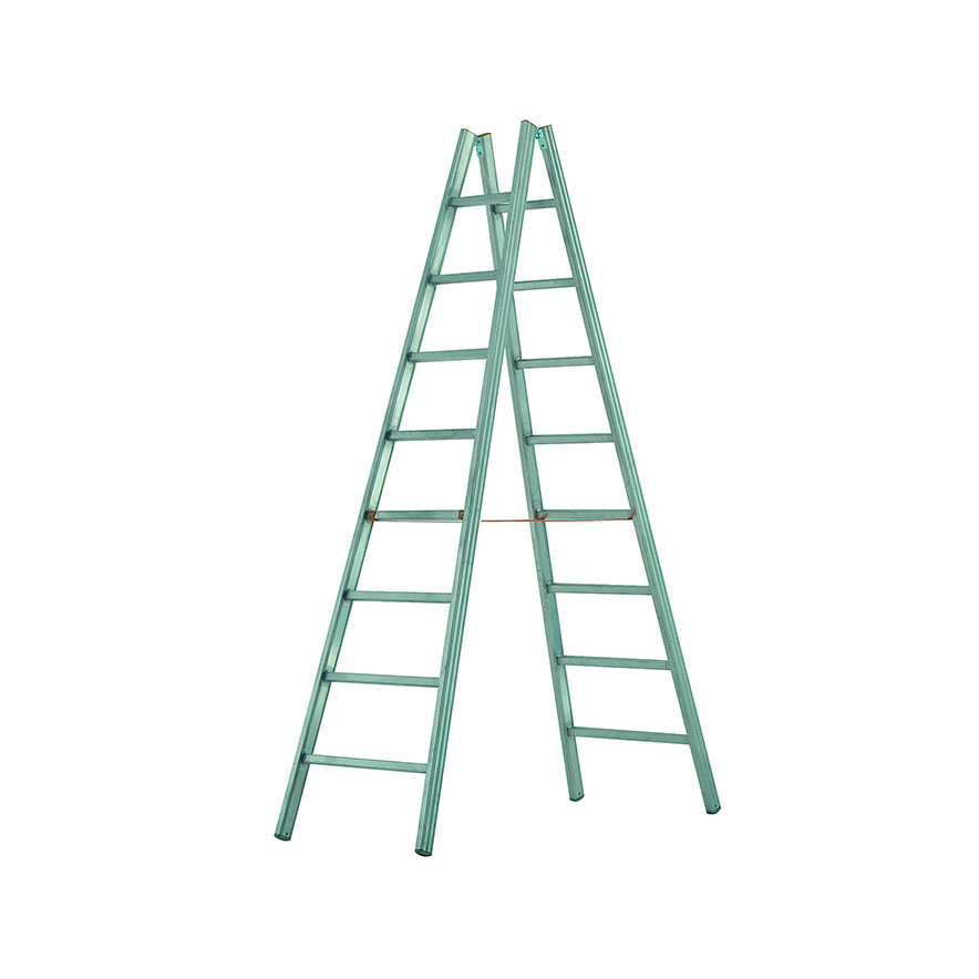 dvojitý hliníkový rebrík