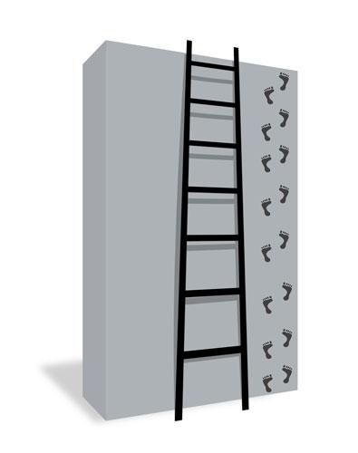 Laminátový rebrík trojdielny - hliník + sklolaminát |Allimpex
