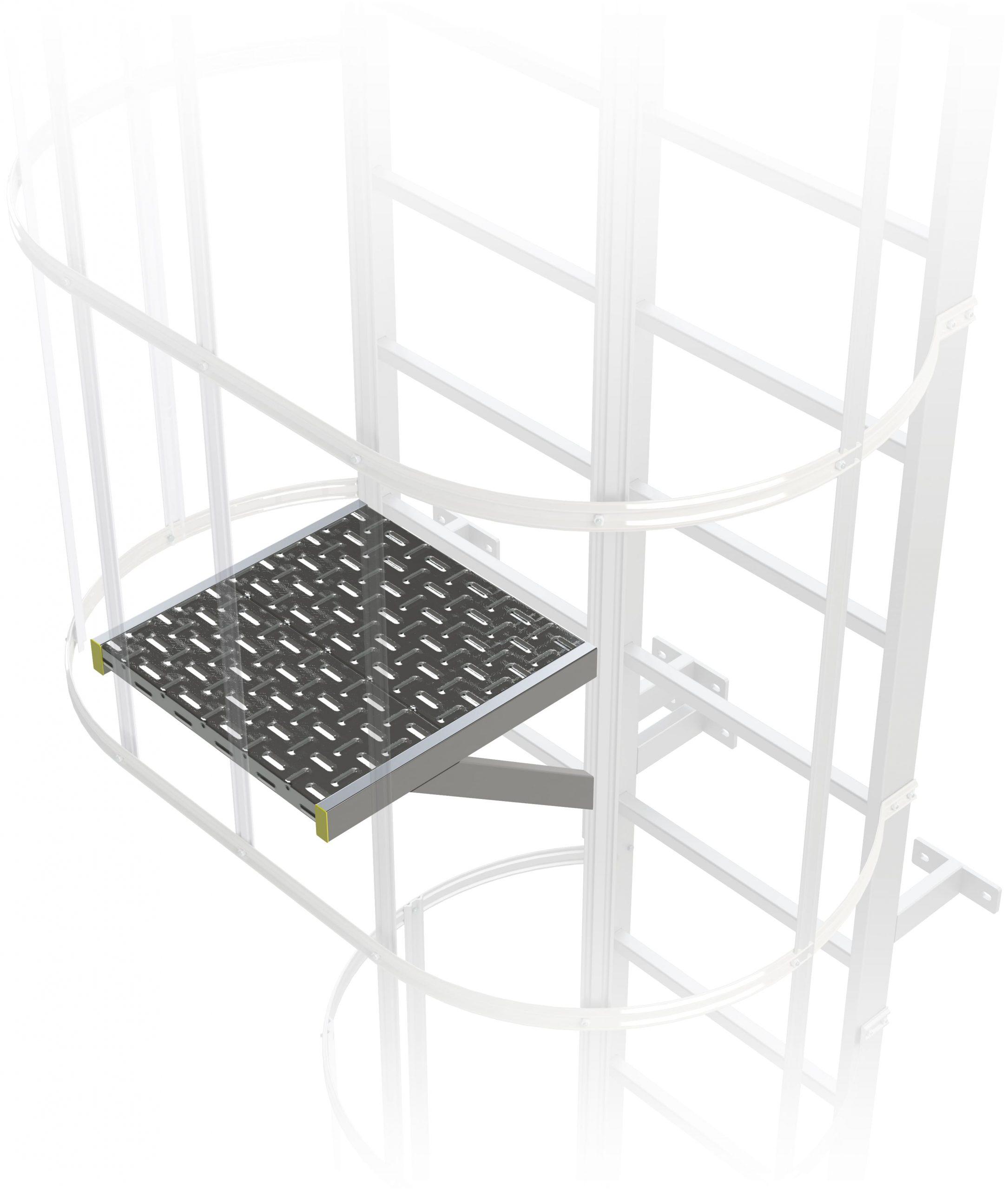 prestupová posedta výstupového rebríka na budove