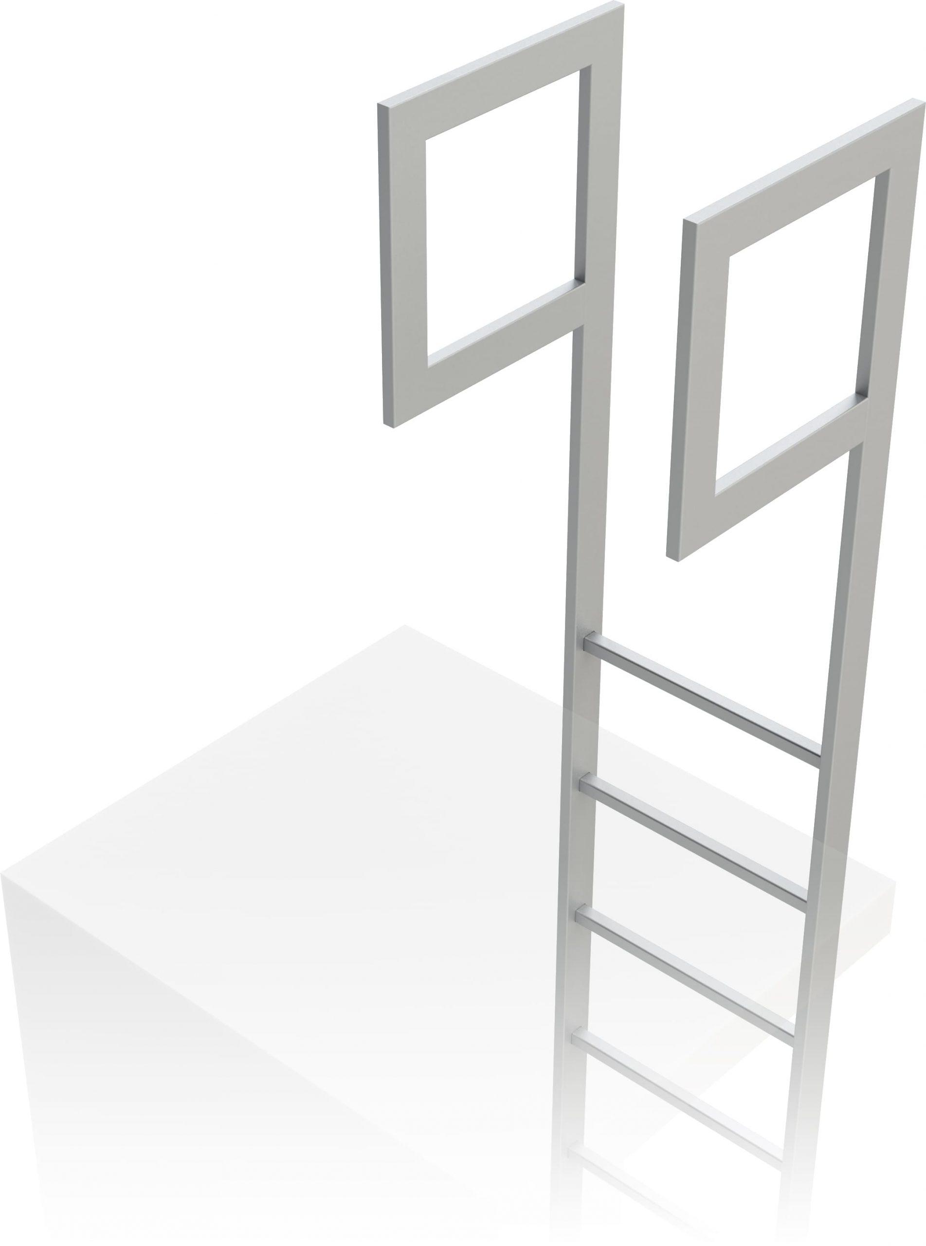 predĺženie stojín na výstupovom rebríku na budove