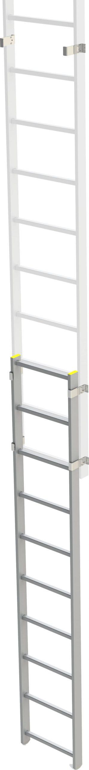zabezpečenie vstupu vysunuteľné pre výstupový rebrík na budove