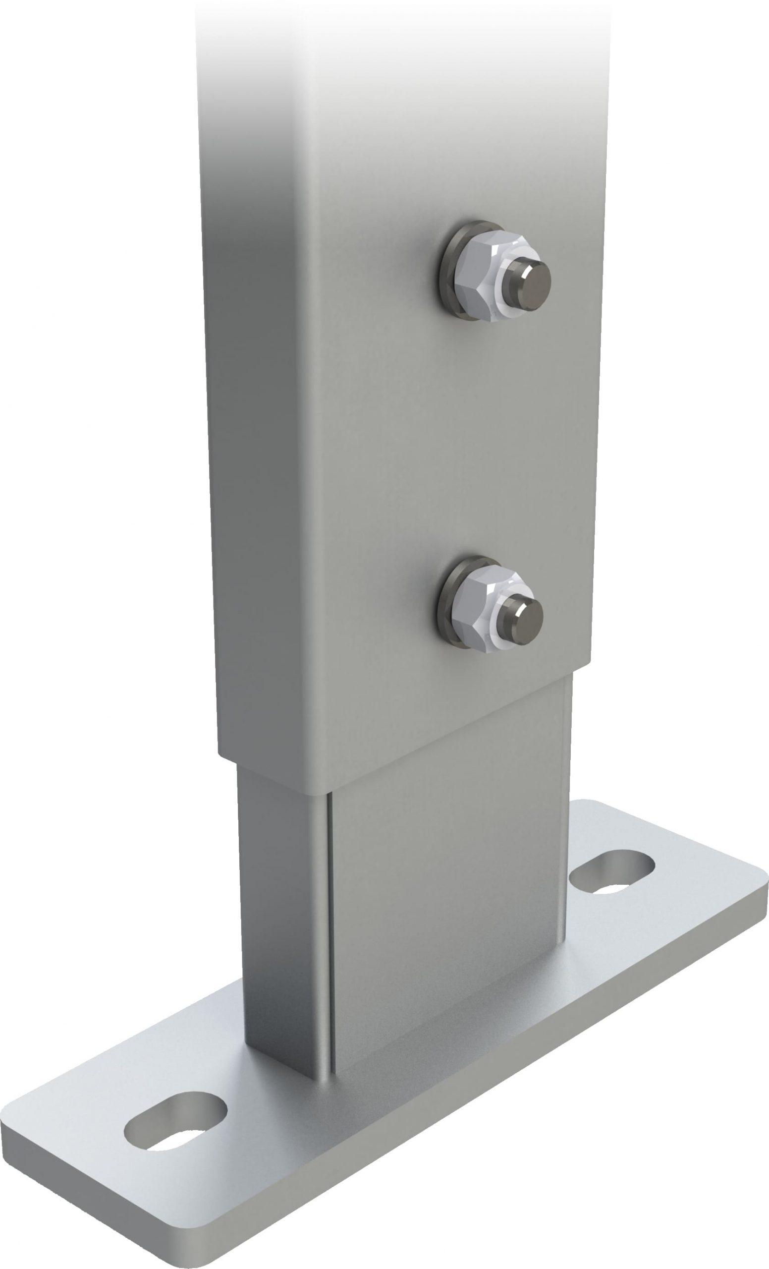 nastaviteľná spodná pätka pre výstupový rebrík na budove