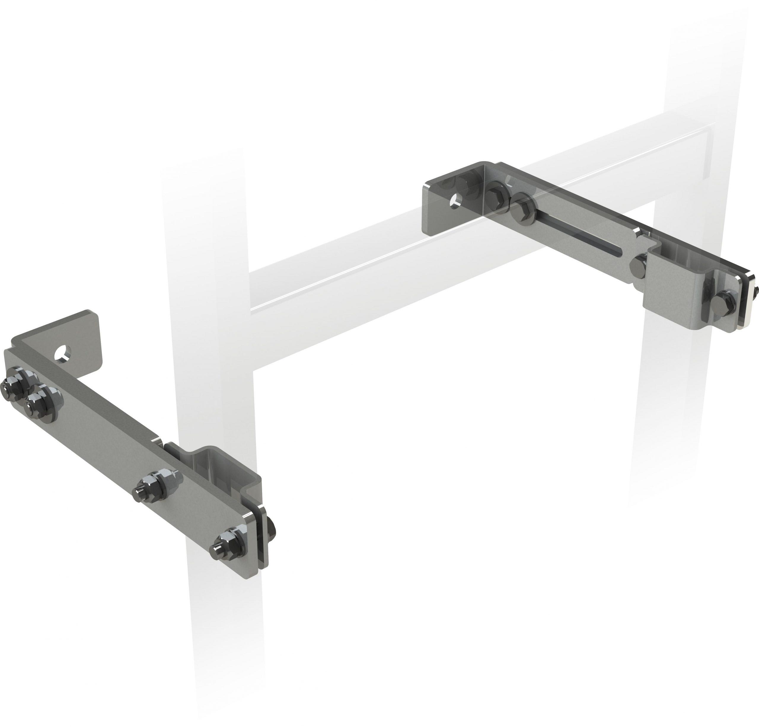 konzola s nastaviteľnou hĺbkou pre šachtové rebríky nerez