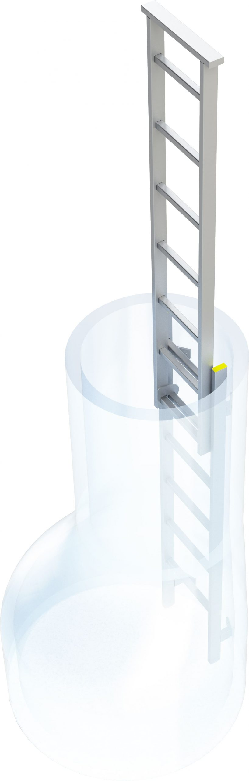 pomôvka vstyupu pre šachtový rebrík