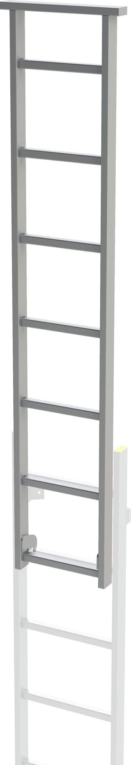 pomôcka vstupu - výsuvný diel pre šachtový rebrík