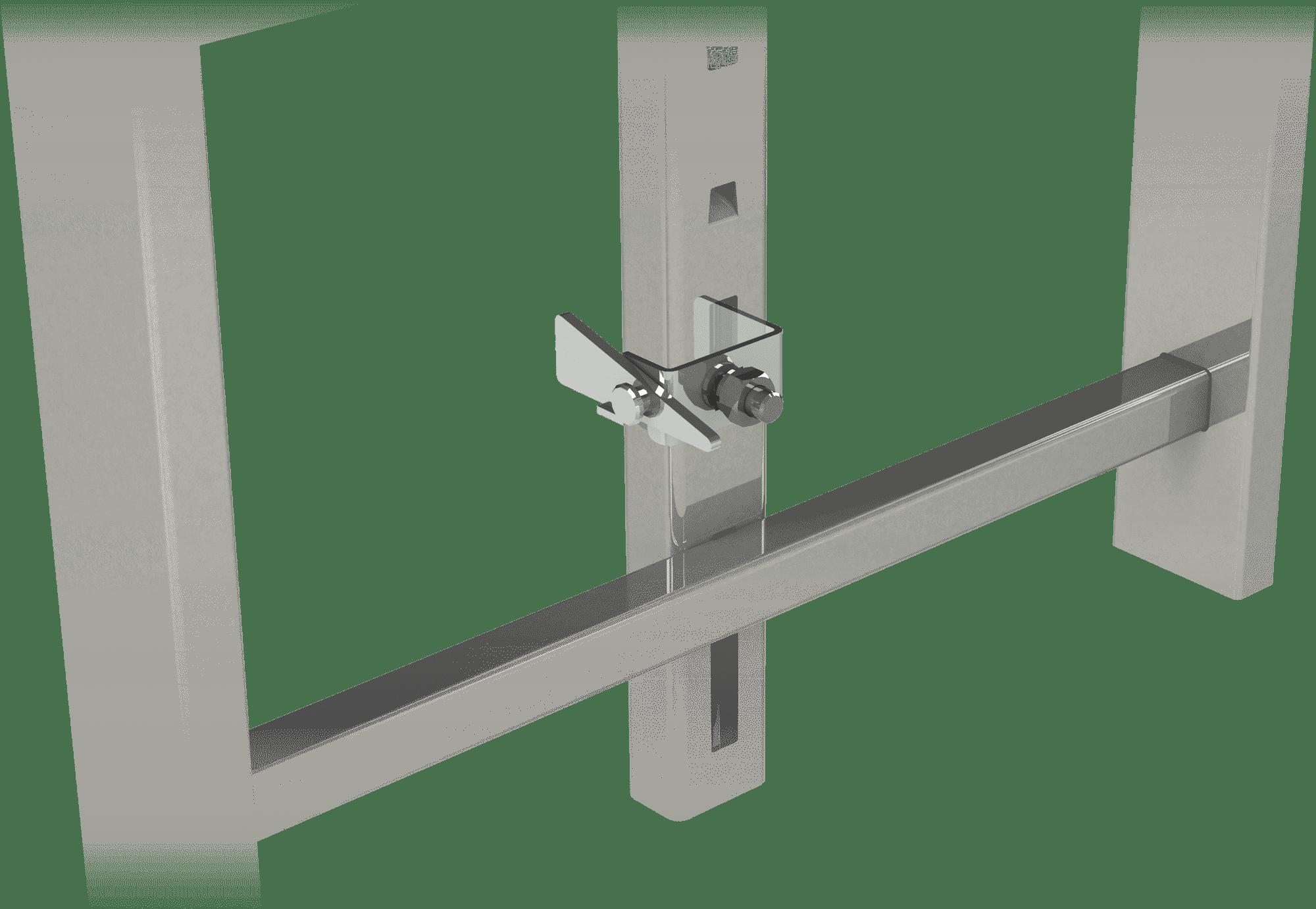 zámok kolajnice na rebríku - protipádová ochrana