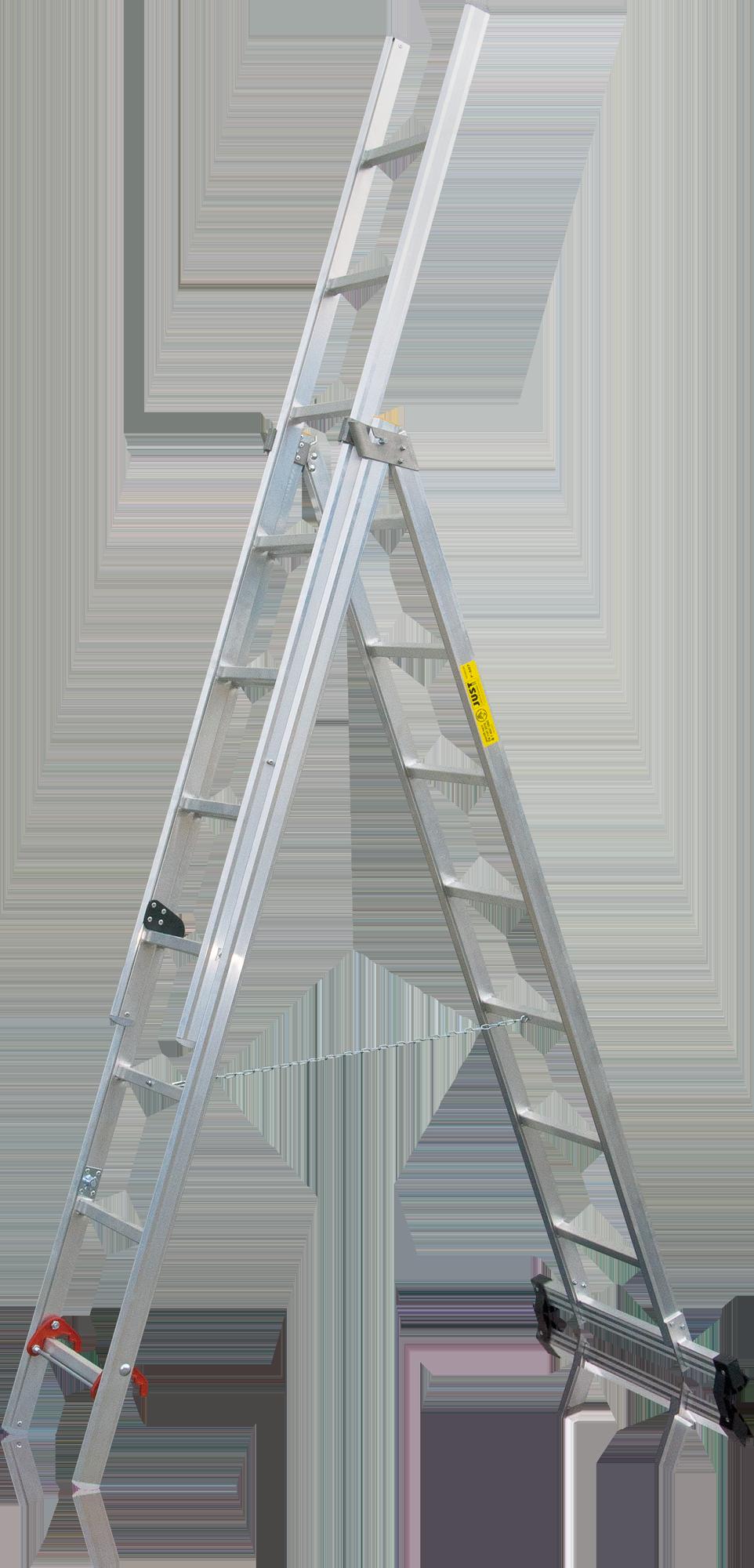 Hasičský viacúčelový trojdielny rebrík F-507