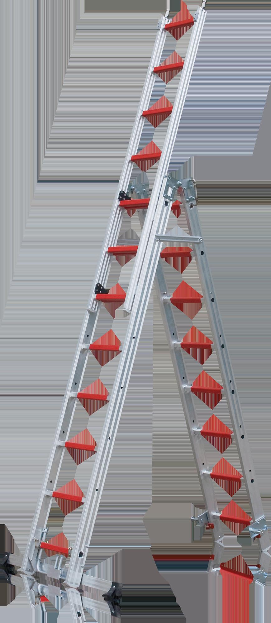 Multifunkčný hasičský trojdielny  rebrík FE-501