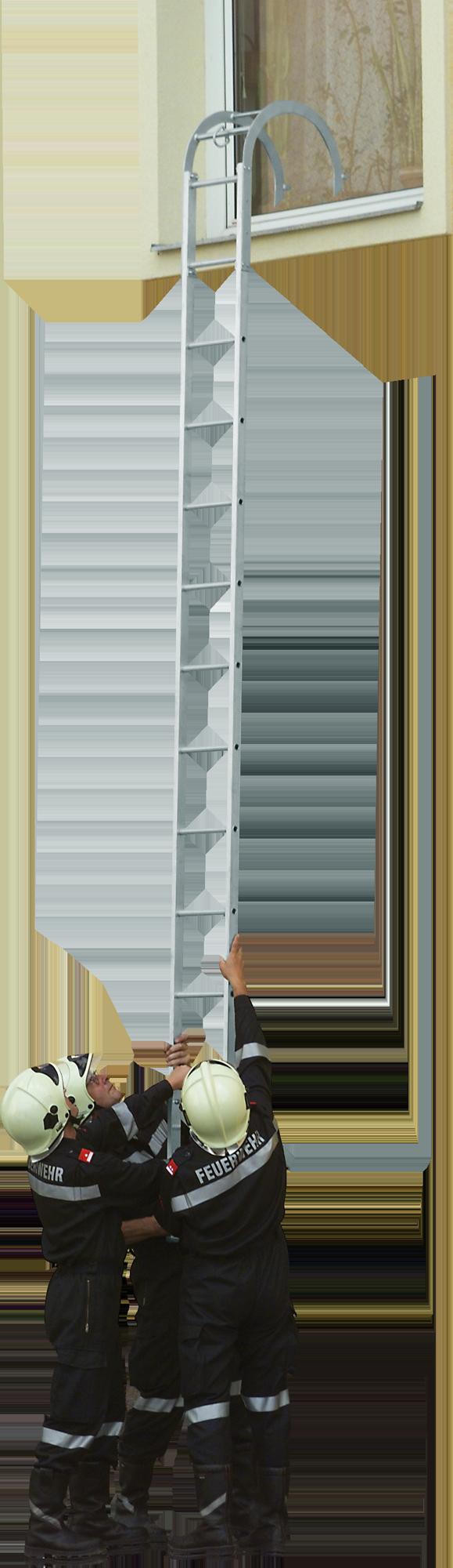 hasičský hákovací rebrík