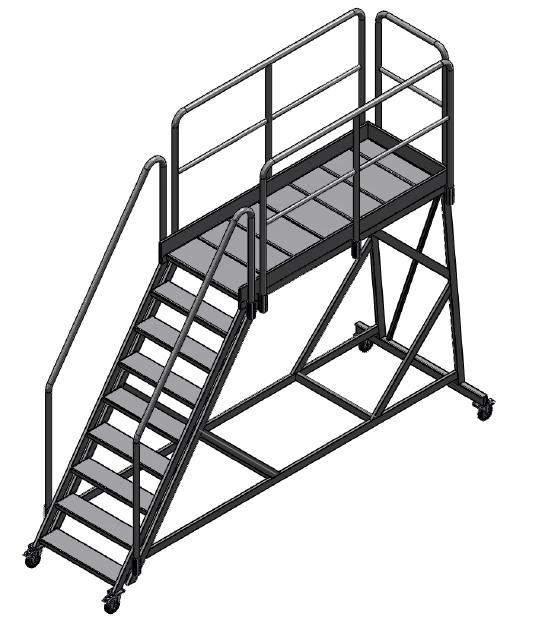 pojazdné schody 76 upravené na mieru