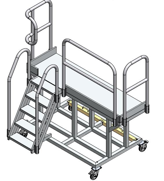 pojazdné schody 76 ako servisná plošina