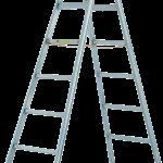 dvojitý rebrík štafle