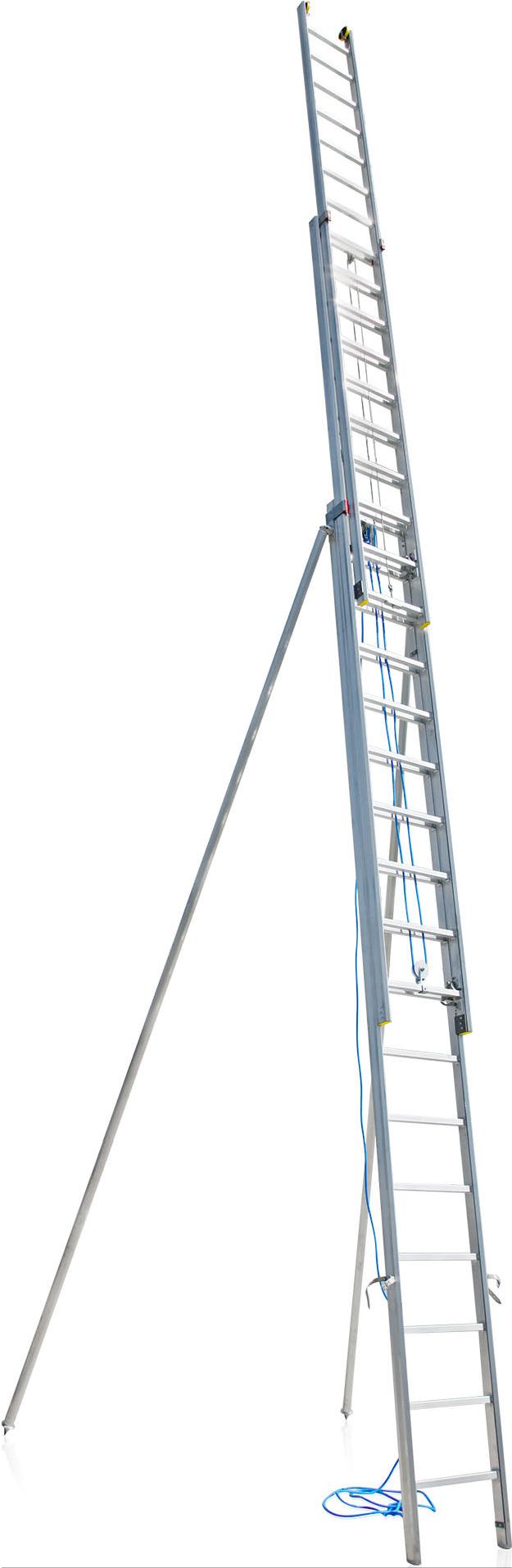 Trojdielny lanoťahový  rebrík Typ 57-020