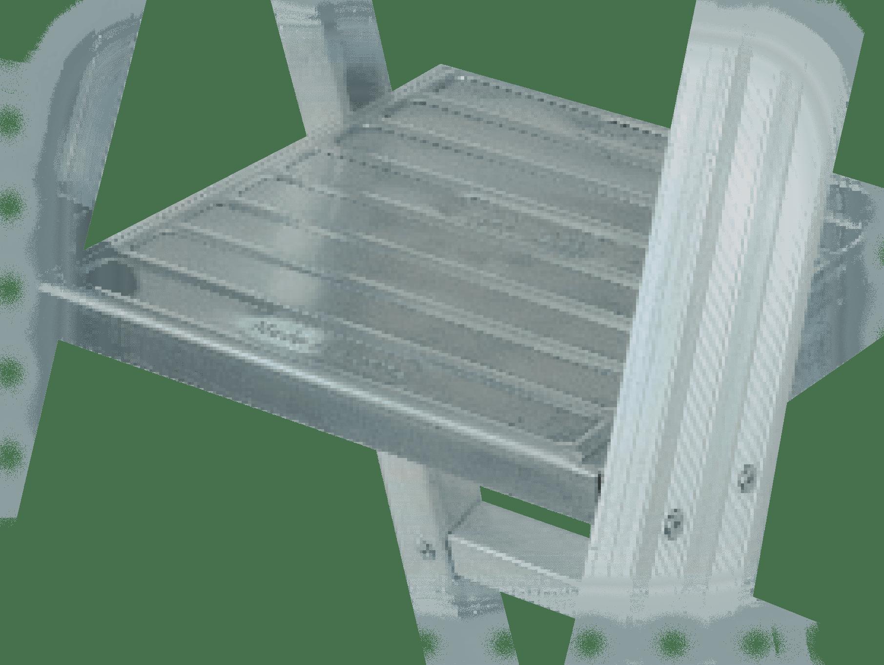 plošinkový rebrík prifesionálny priemyselný - plošinka