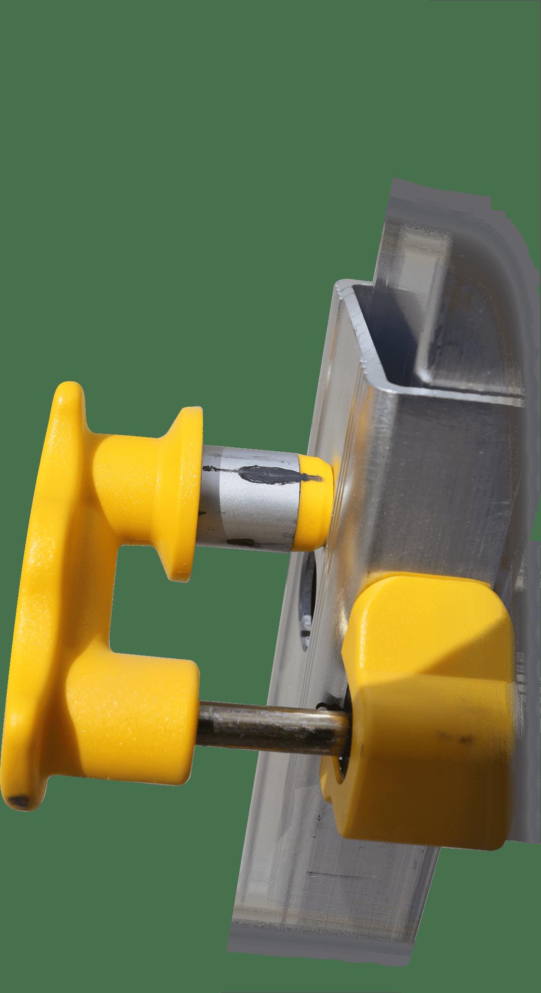 teleskopický profesionálny rebrík detail