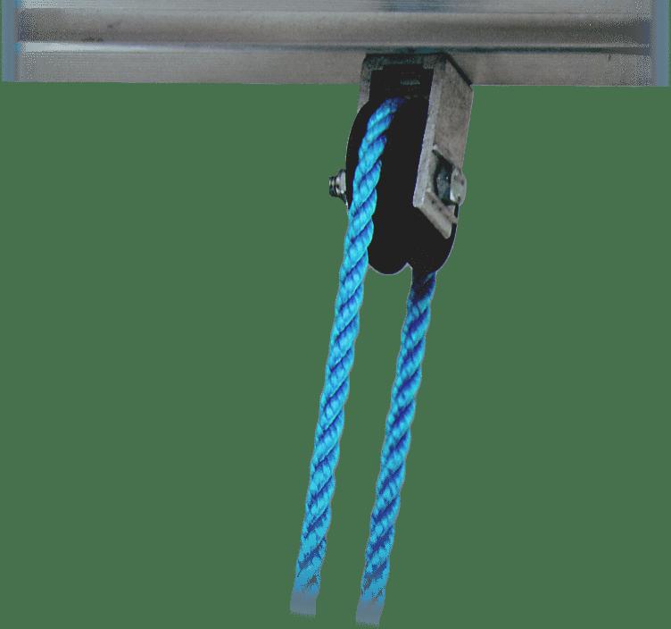 kladka lana na rebríku