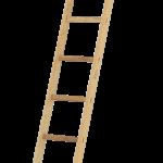 drevený rovný rebrík