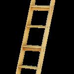 drevený príložný rebrík rovný