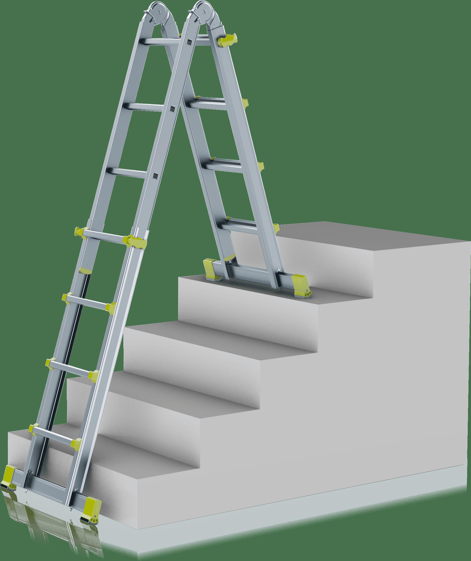 teleskopický profesionálny rebrík na schodoch