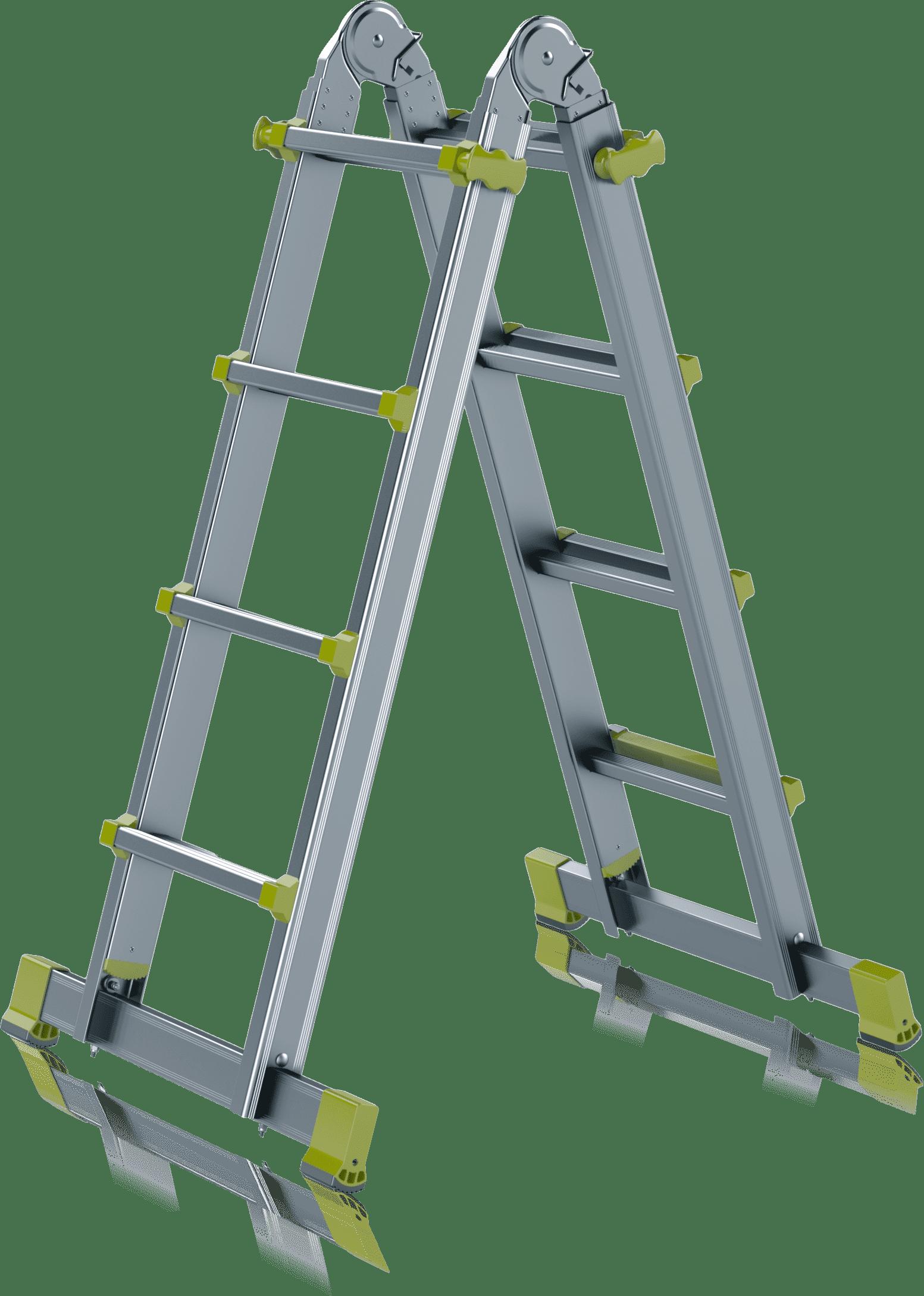 TELESKOPICKÝ HLINÍKOVÝ REBRÍK – Rada INDUSTRIE s priečnym stabilizátorom Typ 75-200F