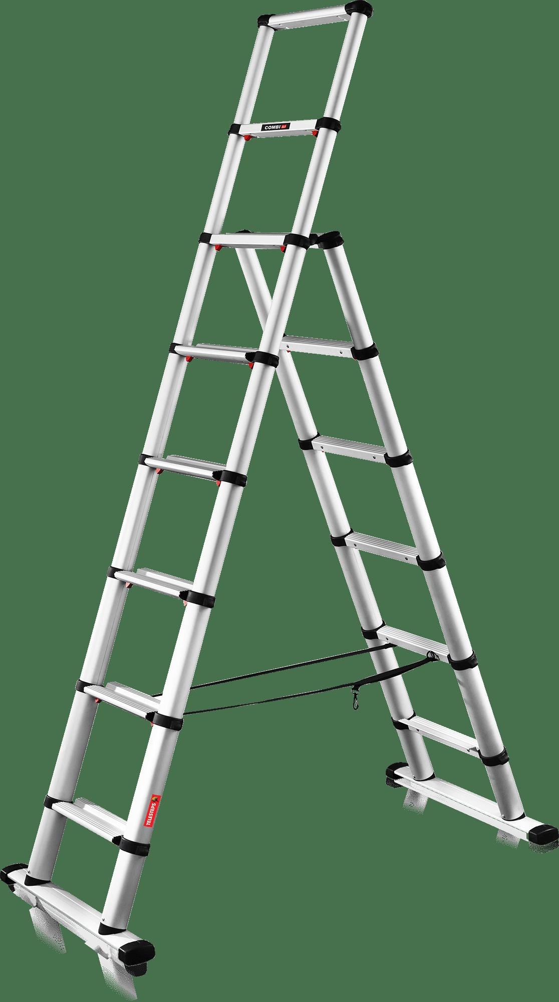 TELESKOPICKÝ HLINÍKOVÝ REBRÍK viacúčelový– Rada INDUSTRIE Typ 75-326