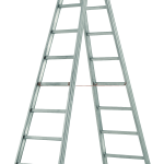 dvojitý rebrík hliníkový zváraný štafle
