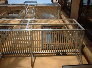 Výstupový rebrík s plošinou