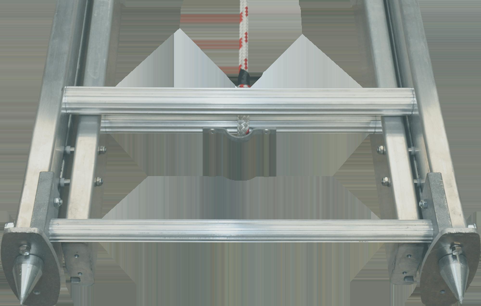pomôcka na stavbu pre hasičský rebrík FO-600