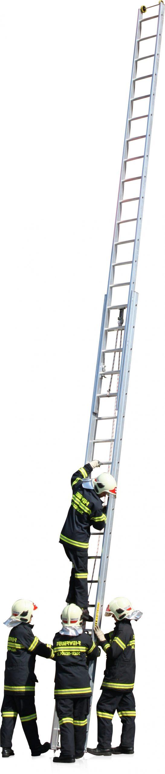 Dvojdielne hasičské rebríky výsuvné FO-615 FO-617 a FO-619