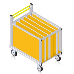 prepravny vozík - kontajner 79-104 - nákres